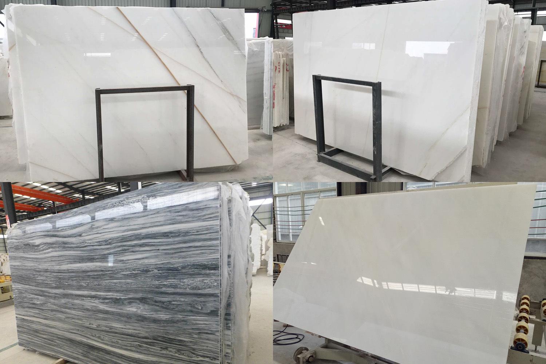 China White/Grey/Beige/Black/Brown Marble Slabs/Tiles/Stairs ...