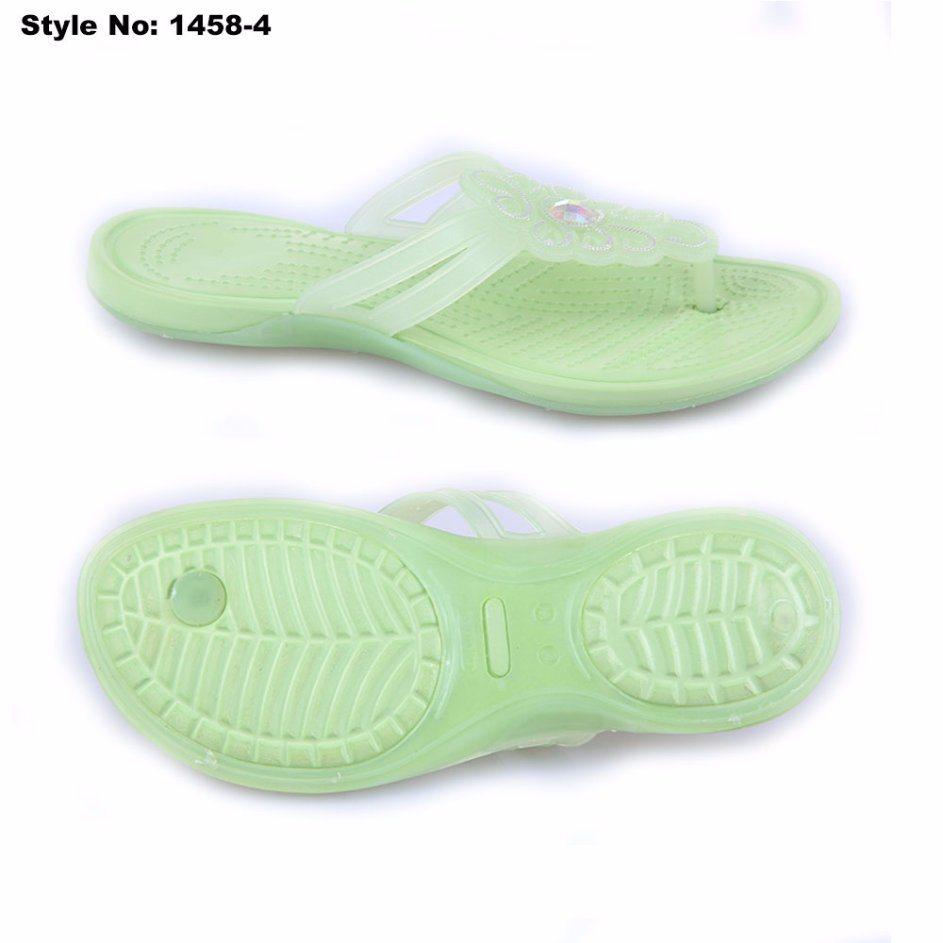 2e482e714ab4 China Blue Jelly Color Flip Flops