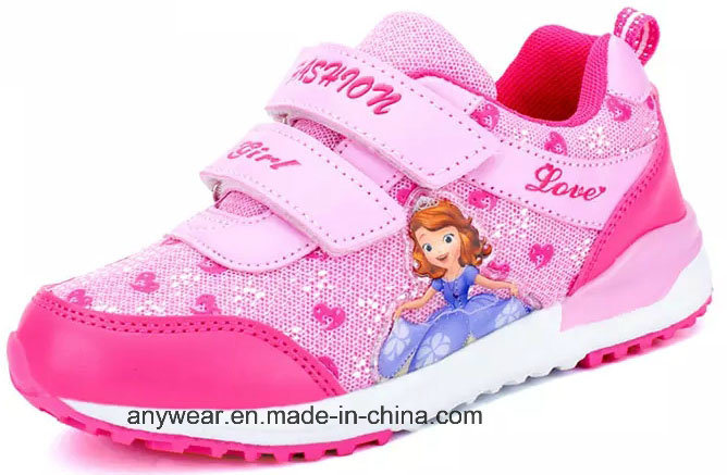 b4ef264df78b China Gril Velcro Sports Running Shoes Children Sneaker (308) - China Shoes