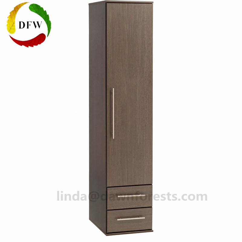 quality design 78a33 42df4 [Hot Item] Solid Door Wooden Color Wardrobe with Two Drawers  (DFW-WB180906-1)