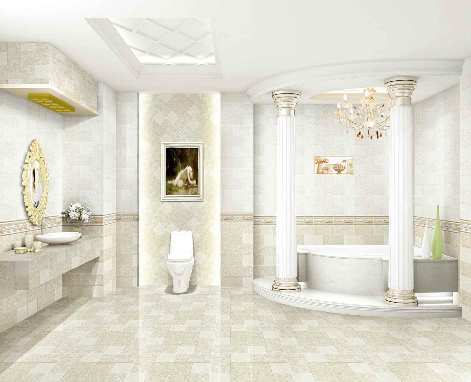 China 2015 New Design Glazed Ceramic Wall Tile for Bathroom/Kitchen ...