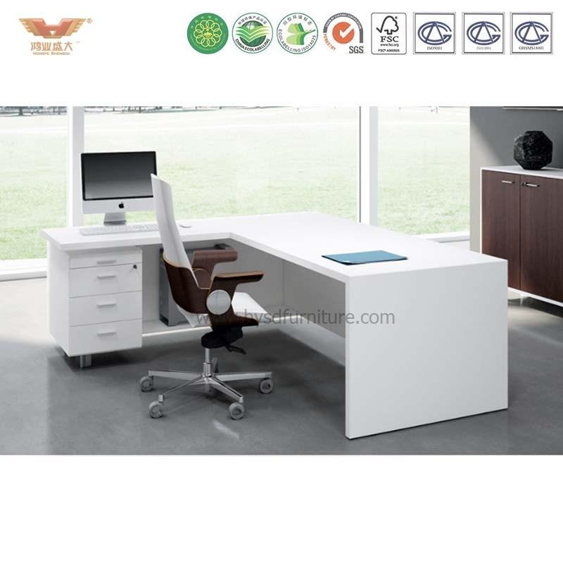 China Customized Mdf Top Office Desk Design Steel Modern School Teacher Computer Table Executive Furniture