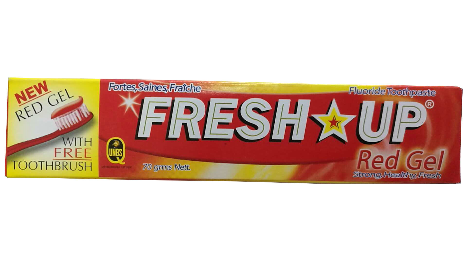 [Hot Item] 70g Fresh up New Gel with Free Toothbrush Fluoride Toothpaste  Making Factory