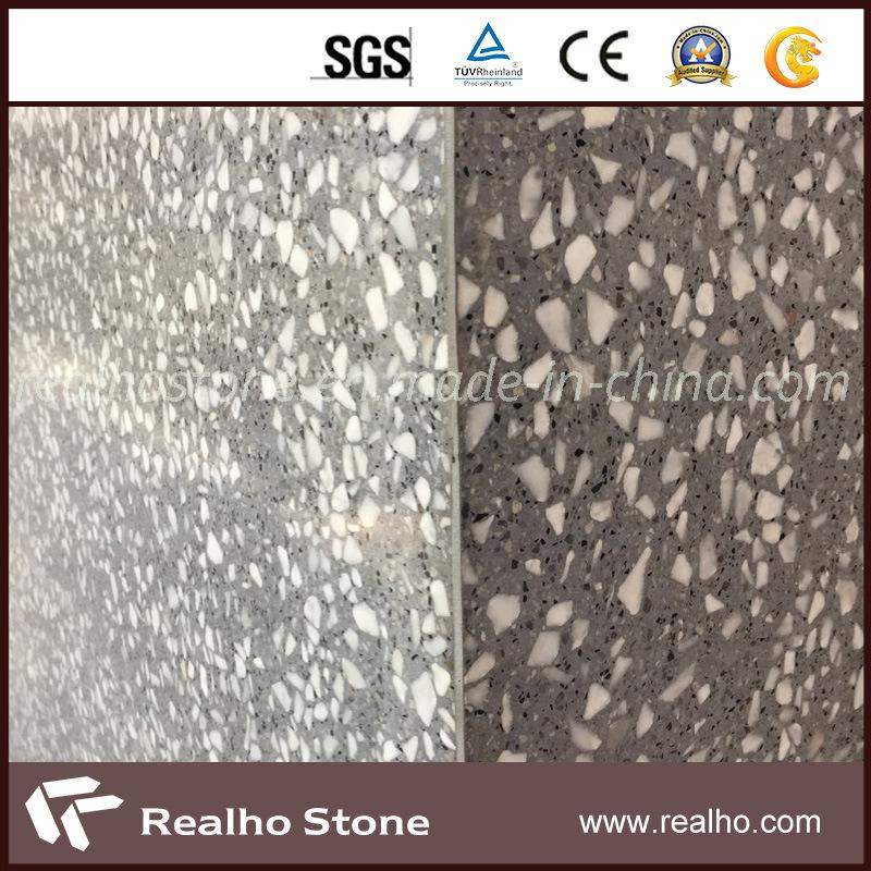 [Hot Item] Grey Cement Terrazzo Tiles for Bathroom