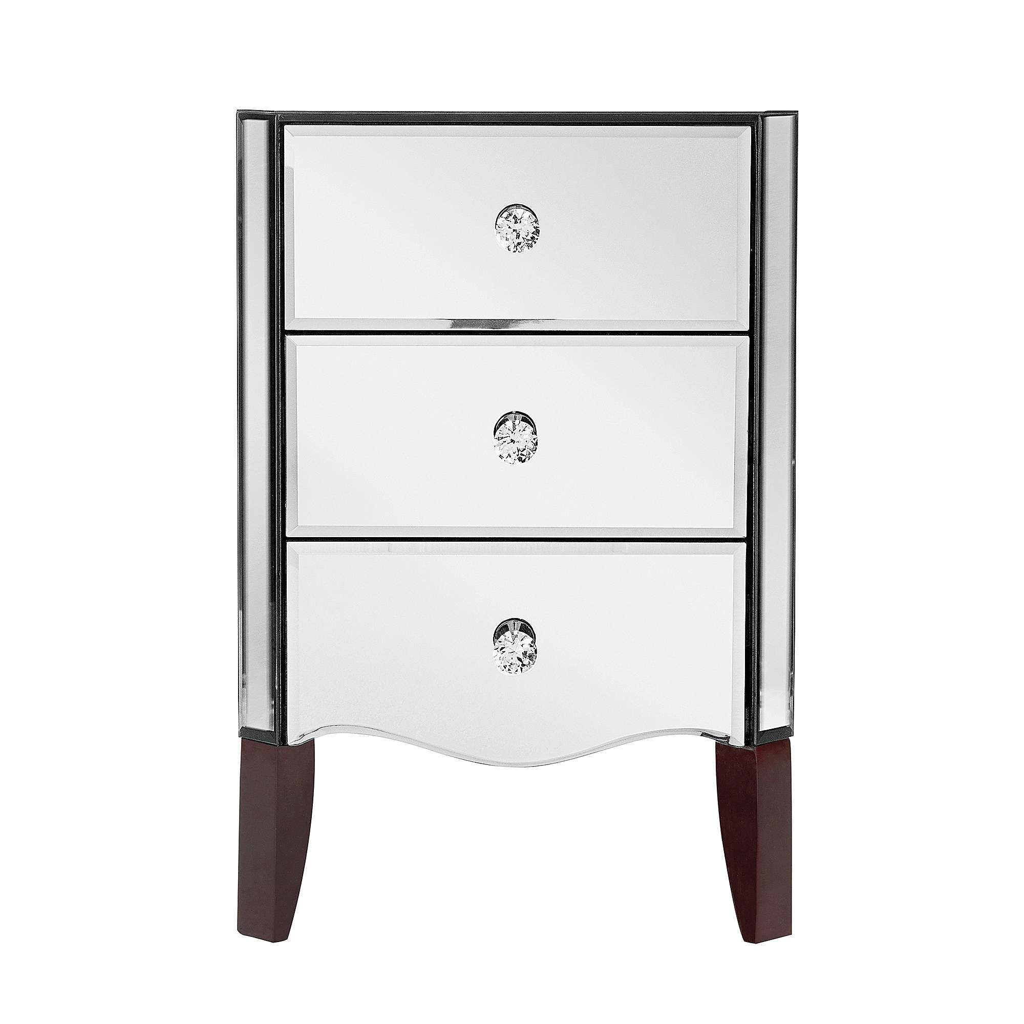 China Bedroom Mirrored Nightstand Furniture With Mirrored