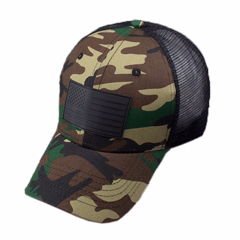 China Custom Unisex Flag Patches Baseball Cap Style Tactical