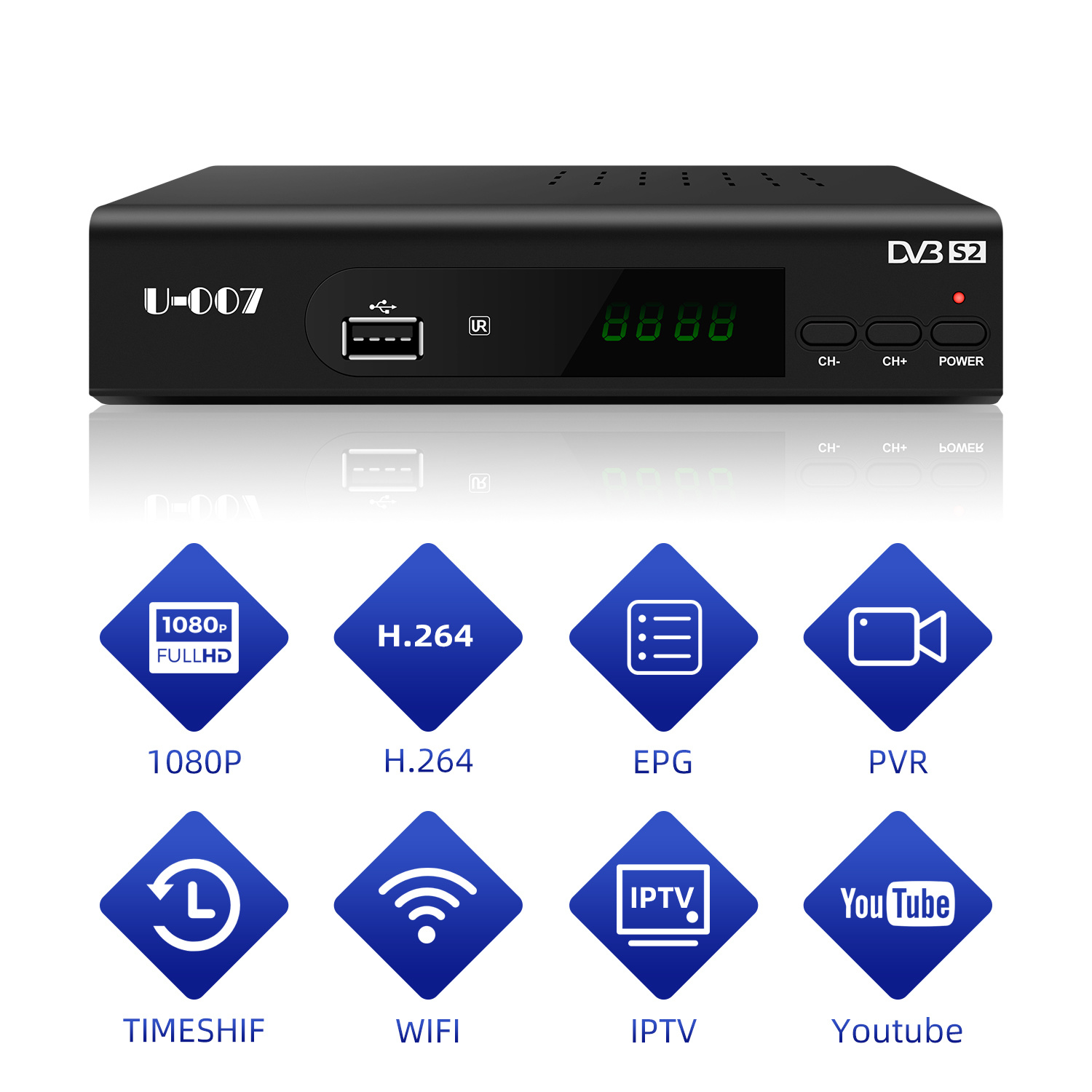 China 2020 High Quality With Cheap Price Dvb S2 Full Hd Digital Satellite Receiver China Satellite Receiver Dvb S2