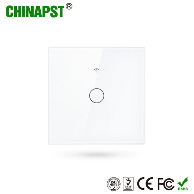 [Hot Item] Hot Sale EU Standard 1CH WiFi Tuya Smart Touch Switch for Home  Lamps (PST-WF-E1)