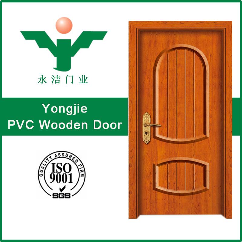 China Pvc Door Glass Interior Pvc Wooden Door Used For Bedroom
