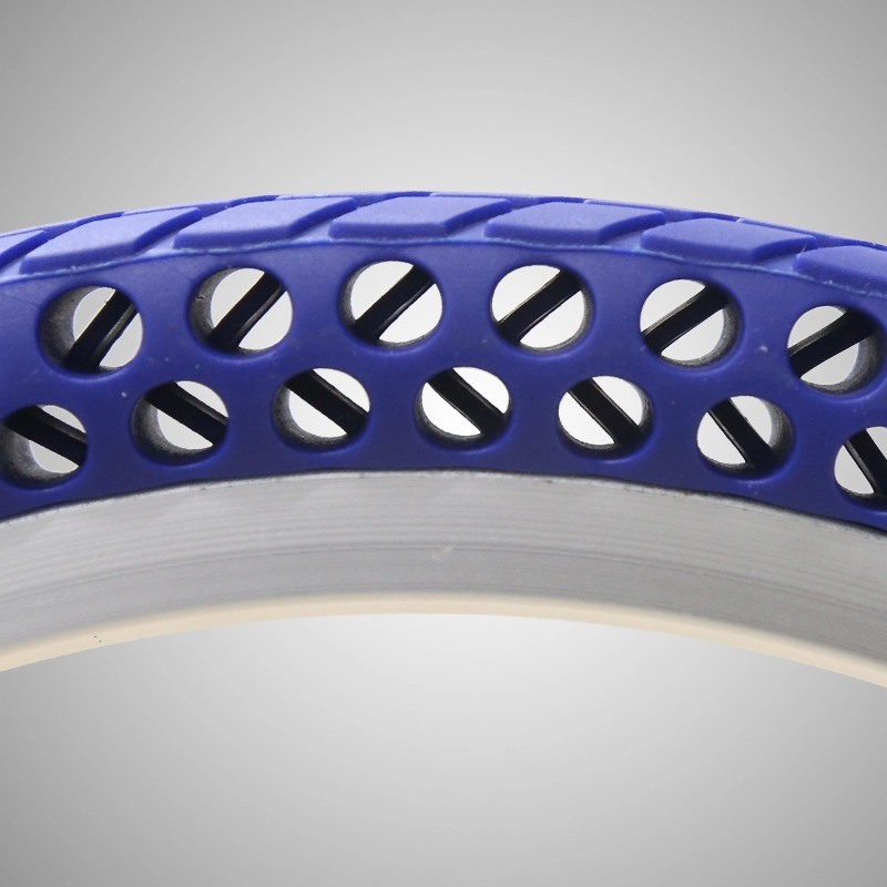 China Manufacturer Top Quality Solid Rubber Coloured Bike Tyres 16*1.5 Solid Free-Inflation Tire for Folding Bikes Road Bike MTB pictures & photos