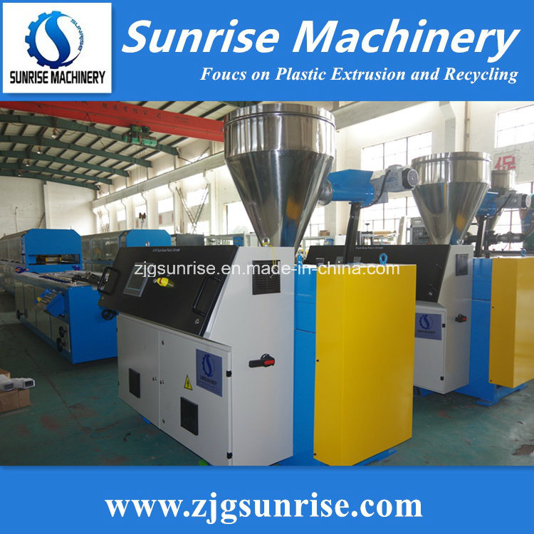 PVC WPC Profile Extrusion Production Machine pictures & photos