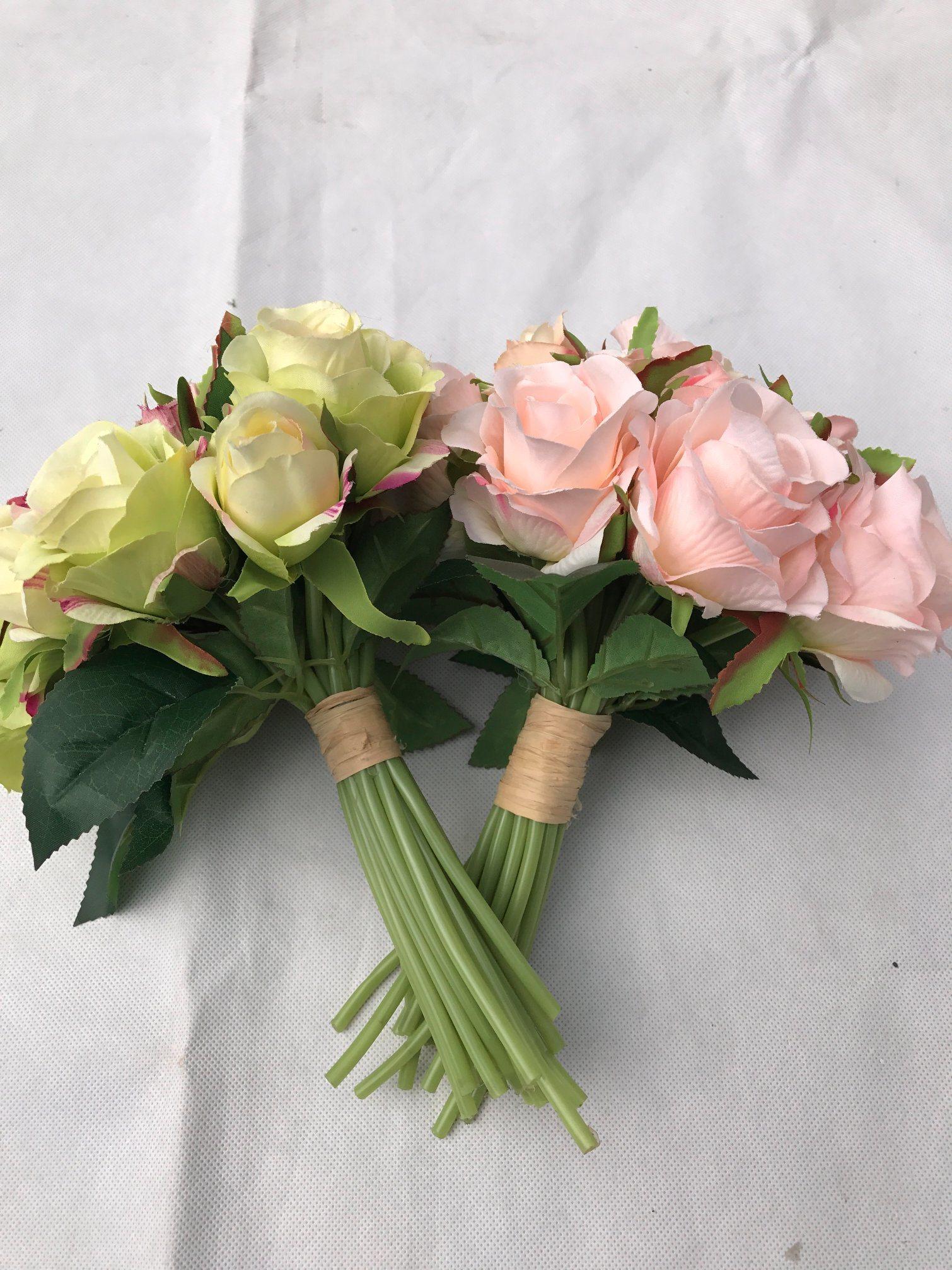 China Beautiful Silk Flower Artificial Rose Fake Flower Wedding