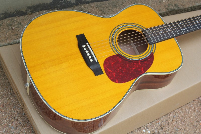 Hanhai Music / 41′′ Yellow Acoustic Guitar (00028)