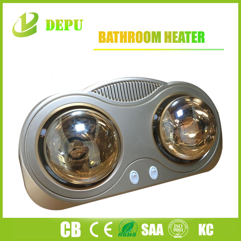 China Bathroom Heater Wall Mounted 2 Infrared Lamp