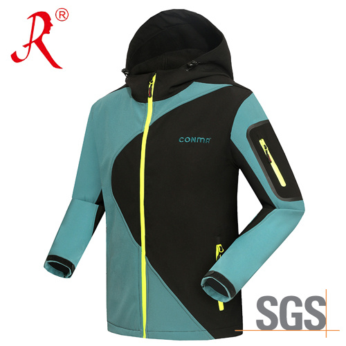 Water Repellent Softshell Jacket for Outdoor (QF-4110) pictures & photos