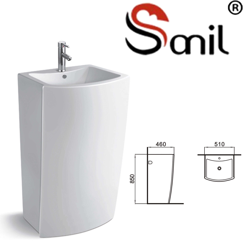 Factory Price China Bathroom Used Pedestal Wash Basin (S9074)   China Pedestal  Basin, Pedestal Washing Basins