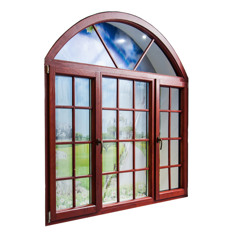 Feelingtop Casement Aluminum and Wood Environmentally Swing Window (FT-AW90)