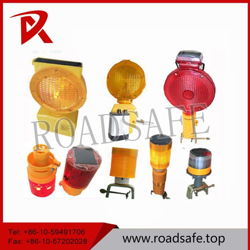 Yellow LED Flashing Solar Traffic Warning Light