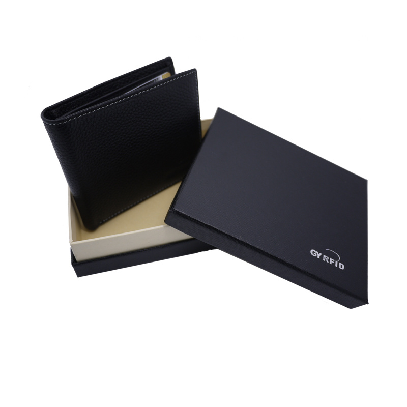 newest collection 7972e ca60a [Hot Item] Business Men Soft Genuine Leather Wallet Credit Card RFID NFC  Blocking Card Holder Protective Case Fold Style Safe Protector Holder