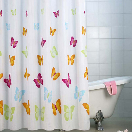 China PEVA Shower Curtain Custom Printed For Bathroom