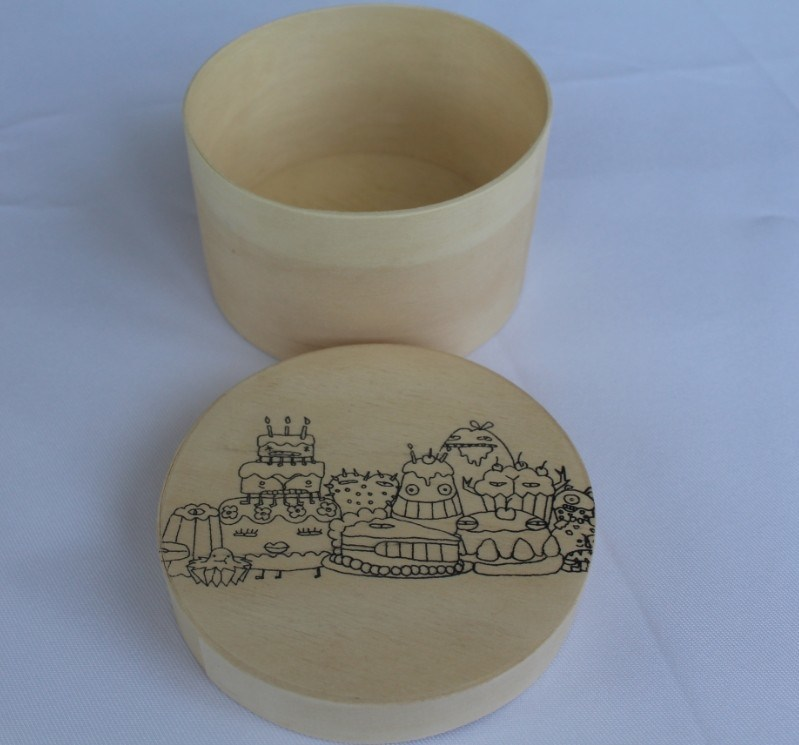Round Decorate Wooden Cheese Boxes for Sale