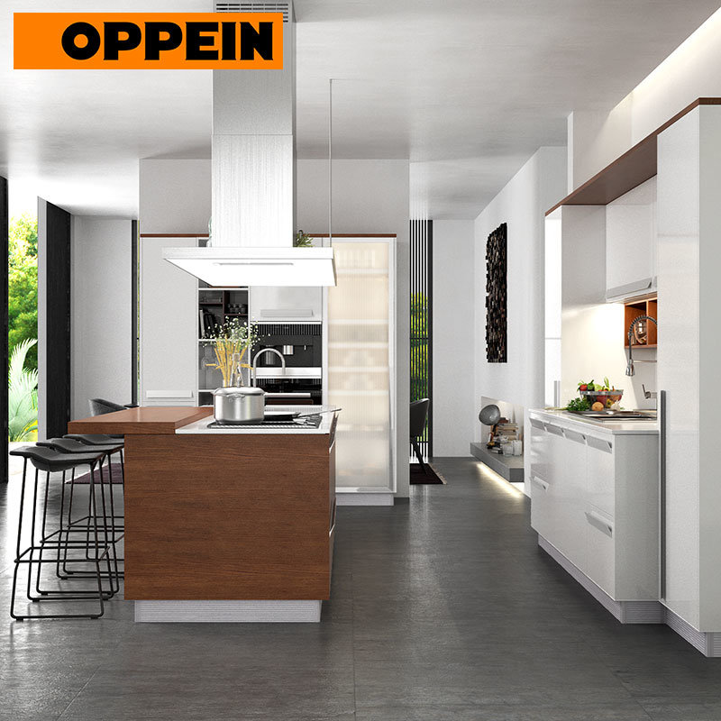 China Oppein Fitted Kitchens Ready To Assemble Display Kitchen