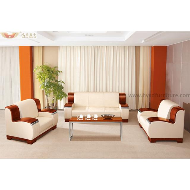 China Luxury Office Furniture Modern Office Teak Wood Sofa Set China Modern Executive Sofa Classical Leather Sofa