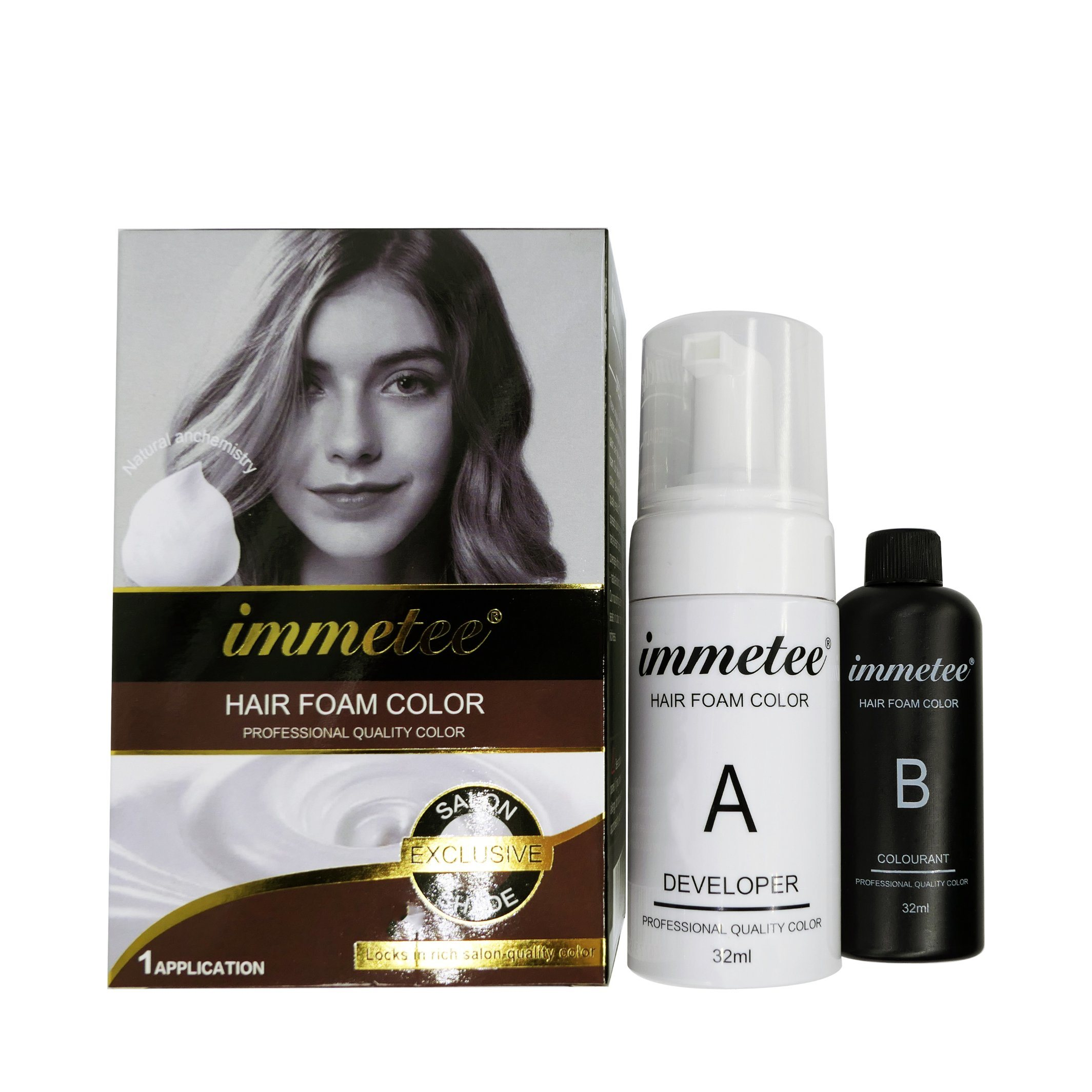 [Hot Item] OEM Organic Temporary Hair Dye Foam Bubble Hair Dye Black Hair  Color Shampoo