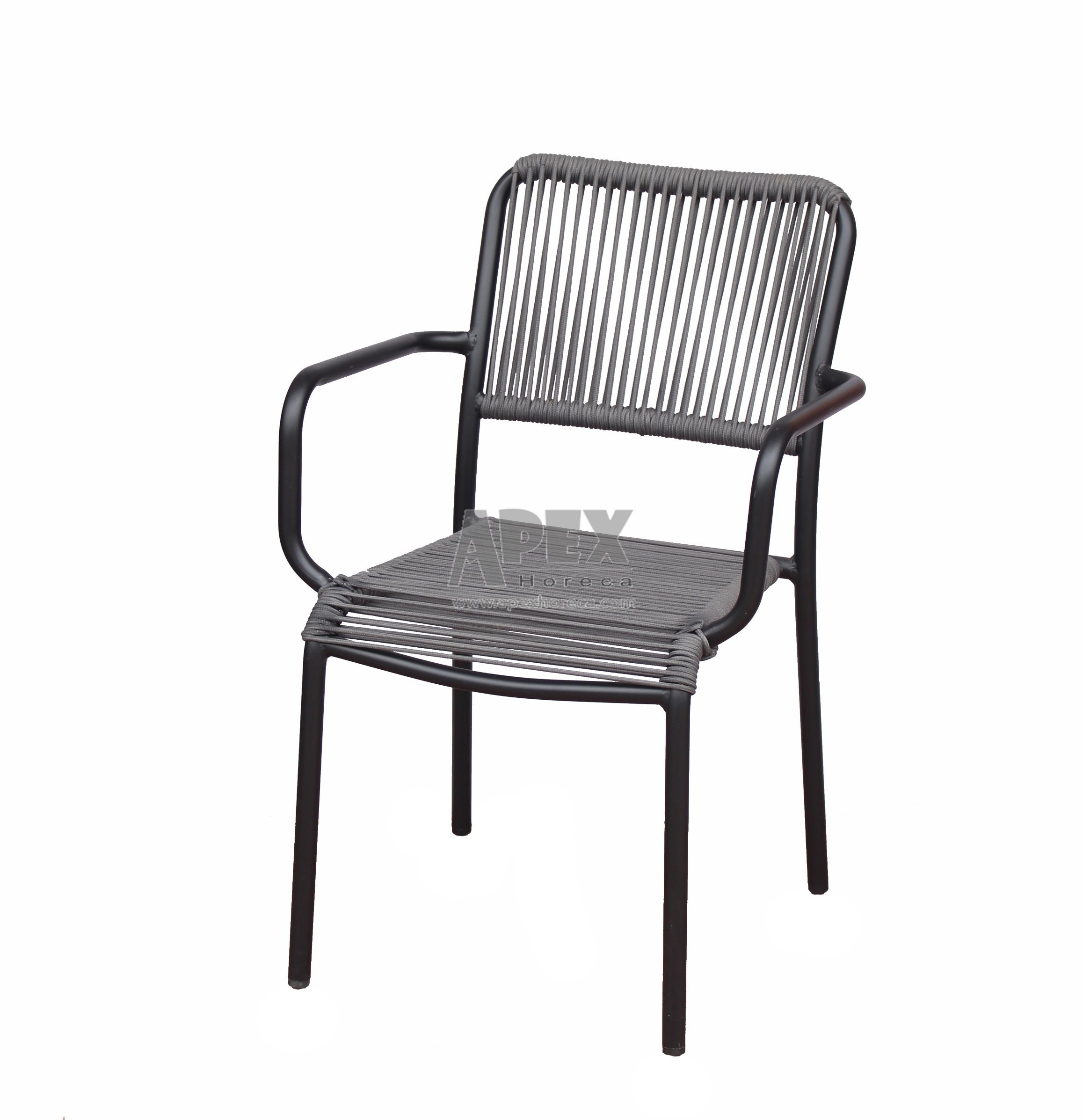 [Hot Item] Outdoor Garden Aluminium Rattan Wicker Stacking Coffee Chair