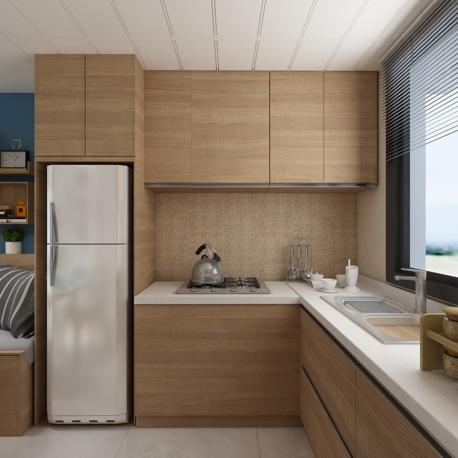 China 8x12 Inch Rectangle Ceramic Tile Kitchen Backsplash