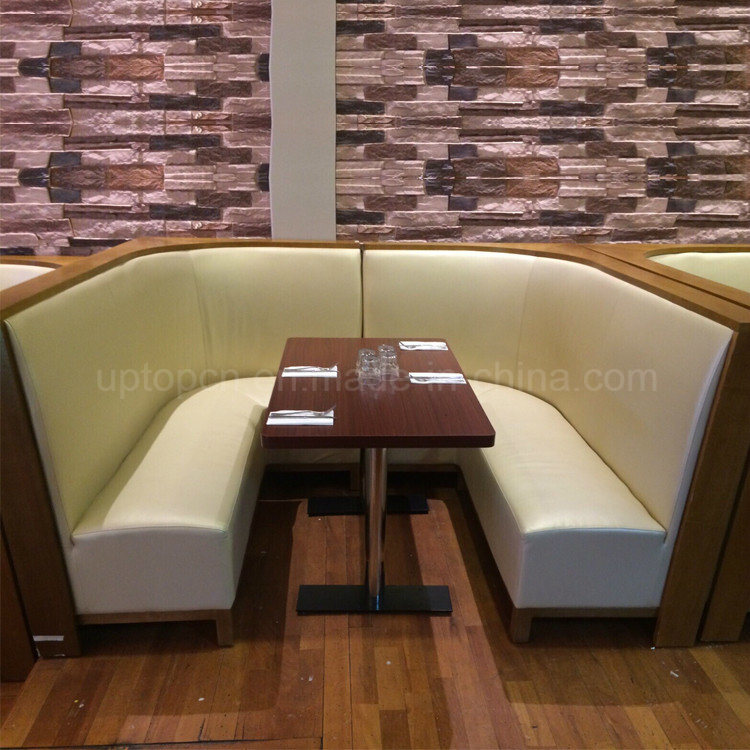China Commercial Wood Frame Restaurant Furniture Curved Booth And Table Sp Cs335 Sofa