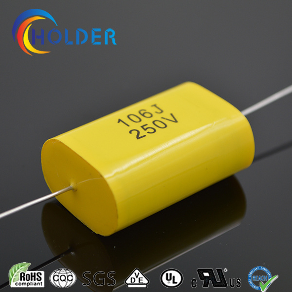 Axial Lead Type Metallized Ployester Film Capacitor (CBB20 106/250)