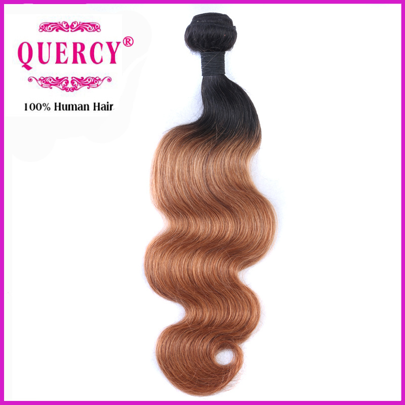 100 Natural Human Hair Weave 100% Brazilian 2 Tone Ombre Hair Weaving Body Wave Omber Hair Bundle pictures & photos