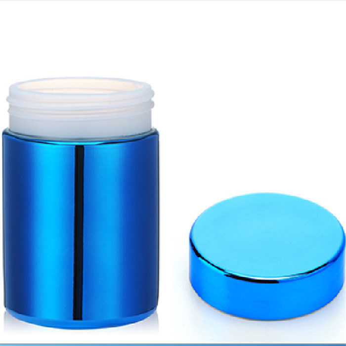 8oz HDPE Blue Metalization Plastic Capsule Canister