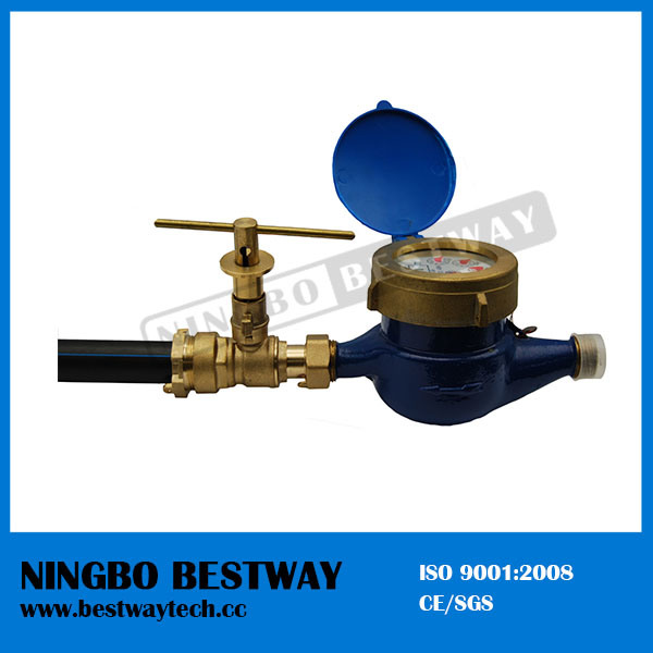 Water Meter with Brass Lockable Ball Valve (BW-L35) pictures & photos