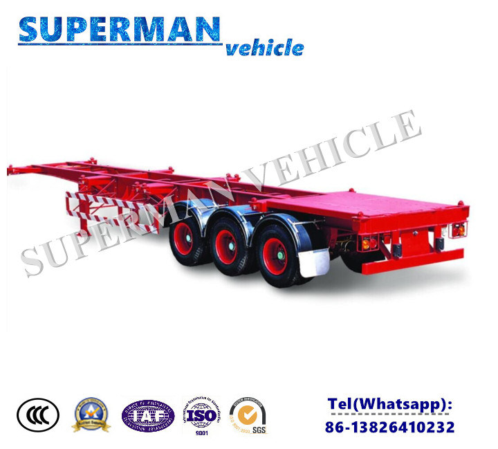 China Container Frame Skeleton Semi Truck Trailer Chassis for Sales ...