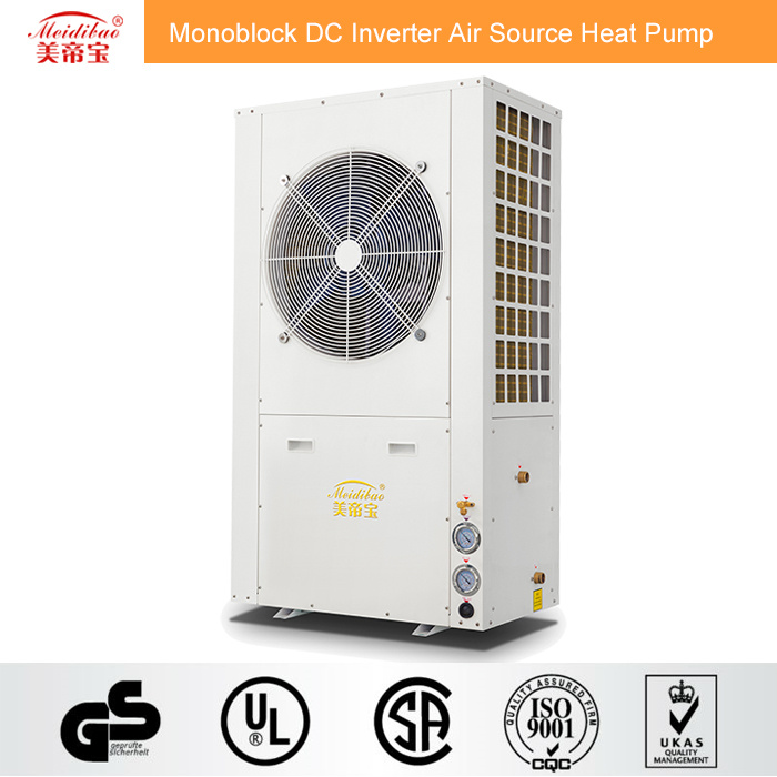 12kw Monoblock DC Inverter Air Source Heat Pump for House Heating