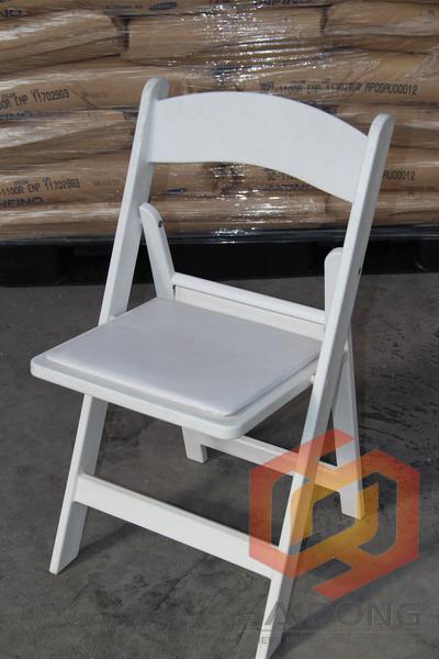 china factory wholesale white resin folding wedding chairs photos