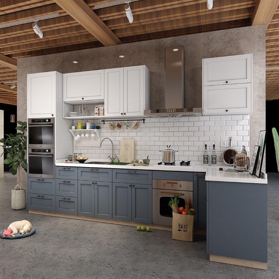 China Cabinetry Kitchen Custom Design Melamine Kitchen Cabinet ...