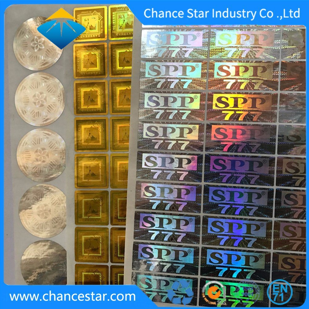 Custom 3d security hologram labels stickers printing