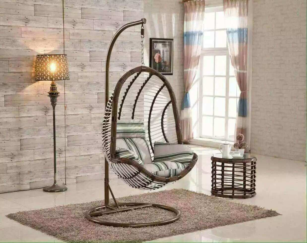 Outdoor Hanging Basket Furniture Rocking Chair Balcony Dormitory Room Hanging  Chair Indoor Cane Swing Chair