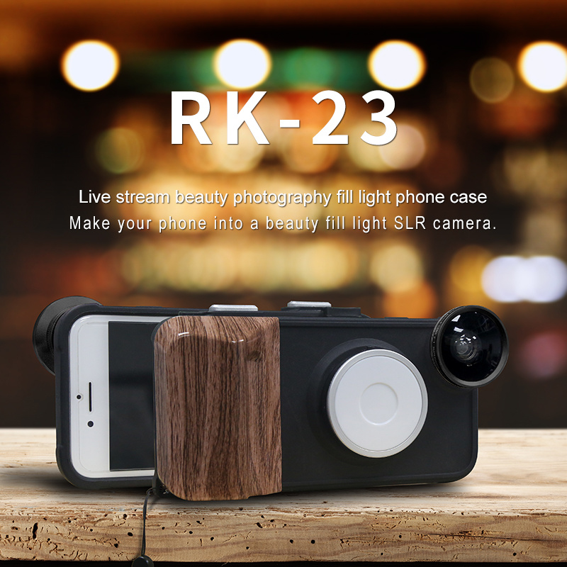 China iPhone6/7/8 Case with LED Light /Fisheye Lens/Marco Lens/Wide ...