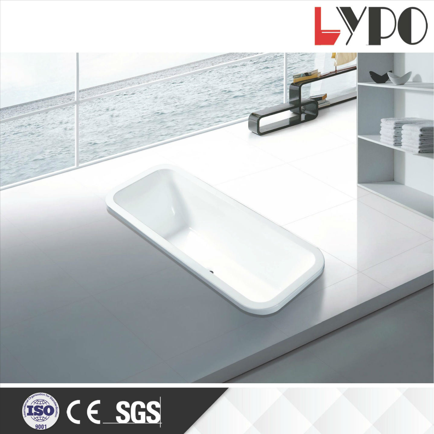 K-1301 Made in China Whirlpool Bathtub, Soaker Tub Made in China ...