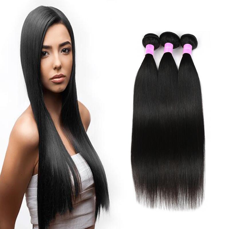 China Peruvian Virgin Hair Straight Human Hair Extension 100 Virgin
