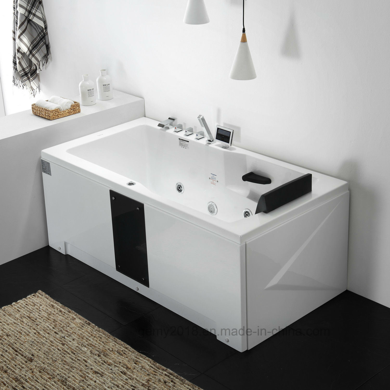 China Indoor Corner Whirlpool Jacuzzi Massage Bathtub Acrylic Tub ...