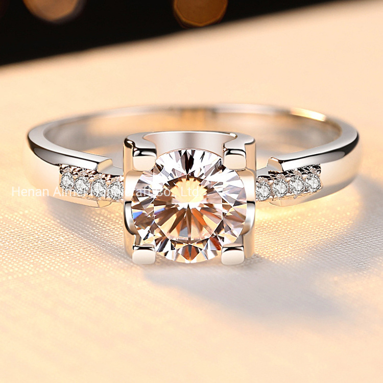 China 2020 Fashion Ring For Women Men 925 Sterling Silver Diamond Ring China Fashion Jewelry And Rings For Men Price