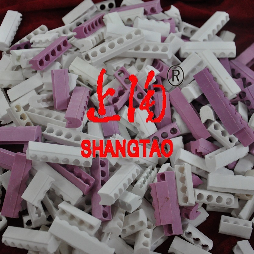 White Steatite Ceramic Band Heater Insulators