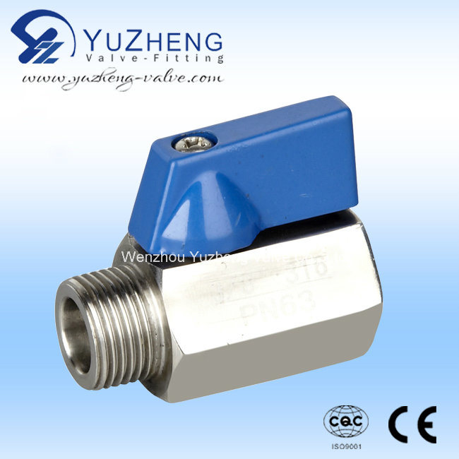1PC Stainless Steel M/F Thread Mini Ball Valve pictures & photos