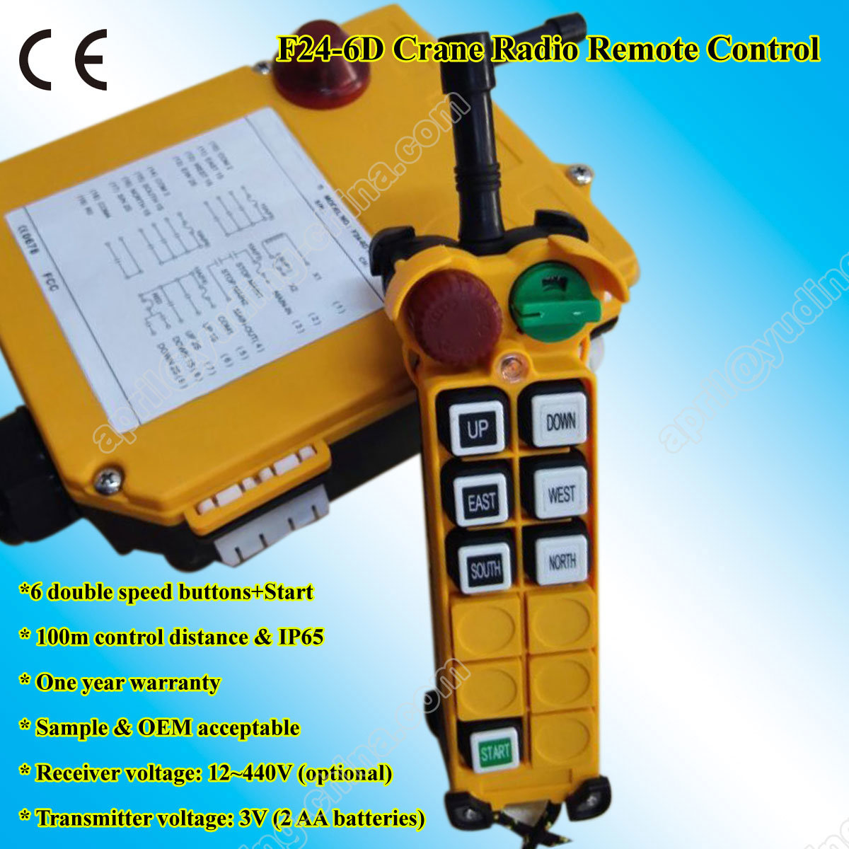 China Winch Wireless Remote Control Circuit 12v 24v F24 6d 220 Volts 12 Volt Wiring Diagram On Off Switch Rf