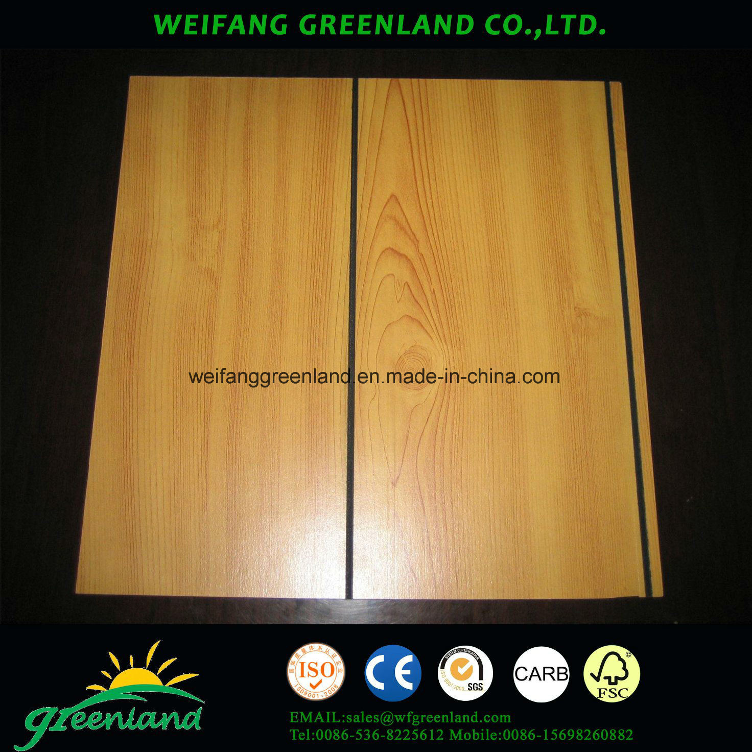 Grooved Plywood with Paper